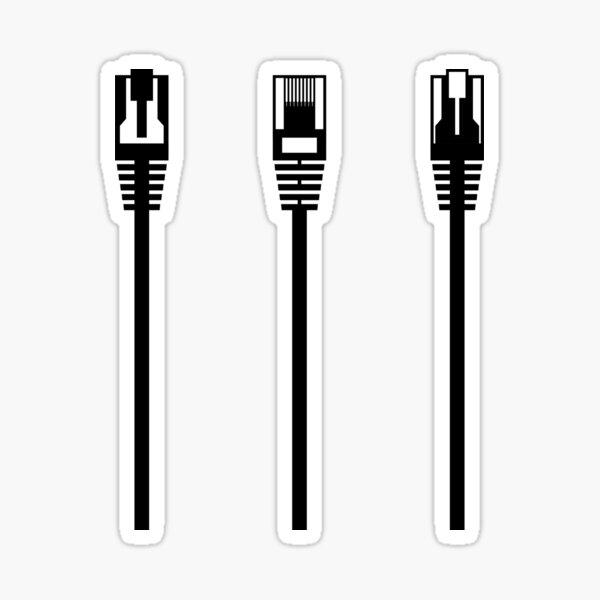 Network Ethernet Internet Cables Sticker