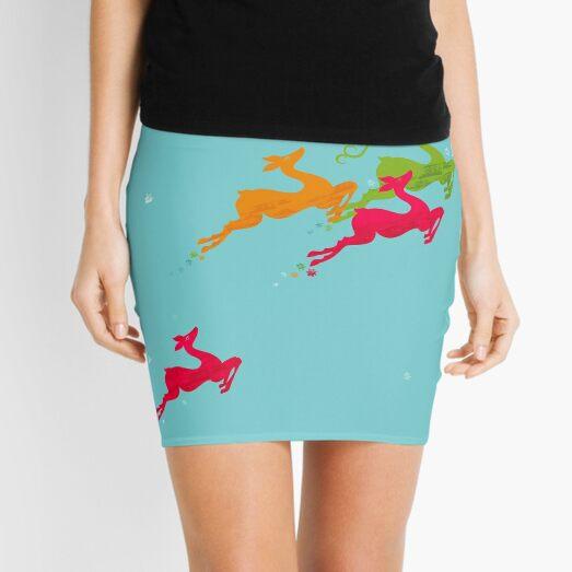 Winer Deer Mini Skirt