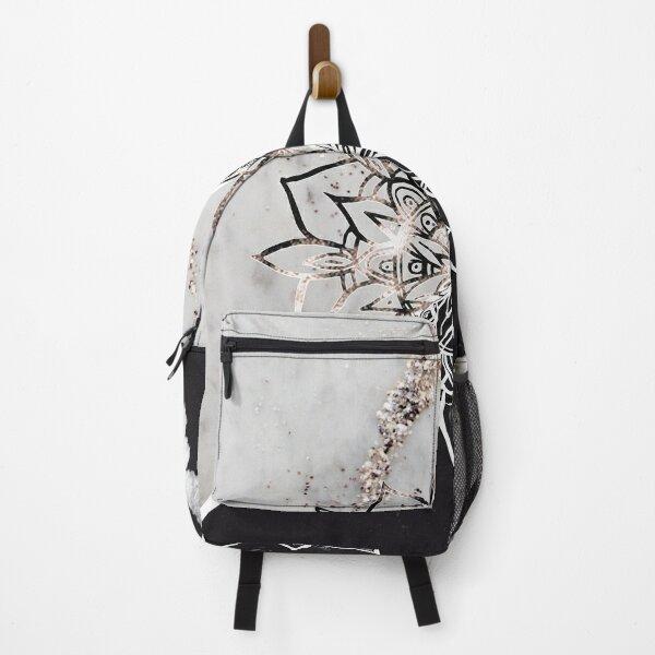 Yin Yang Mandala on Marble #1 #decor #art  Backpack