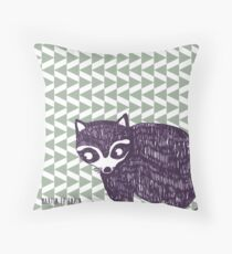 Pointy Racoon  Throw Pillow