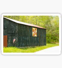 Kentucky Barn Quilt - July Summer Sky Sticker