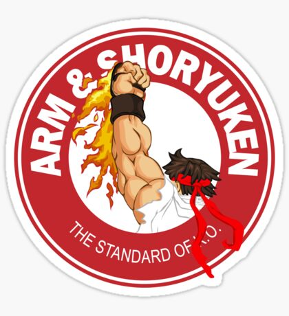 Arm & Shoryuken. The Standard of K.O. - Ryu Sticker