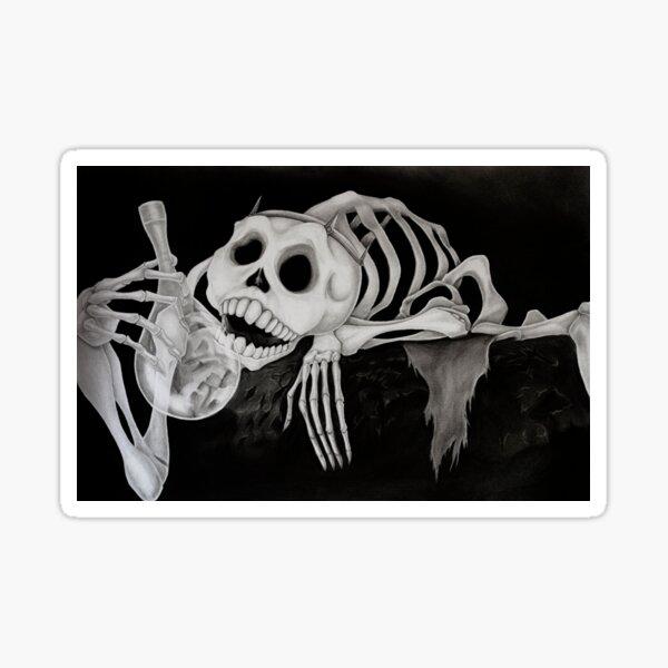 Skeleton - The last unicorn Sticker