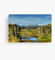 A Langdale View Revisited Canvas Print