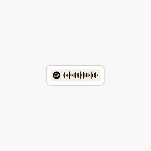The 1975 complete playlist Spotify code  Sticker