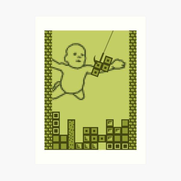 Nevermind the Tetris Art Print