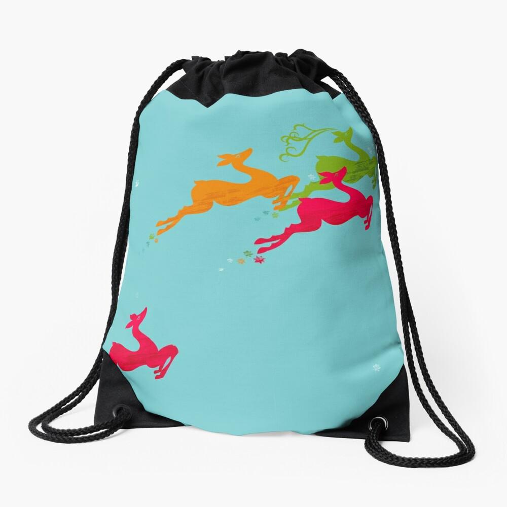 Winer Deer Drawstring Bag