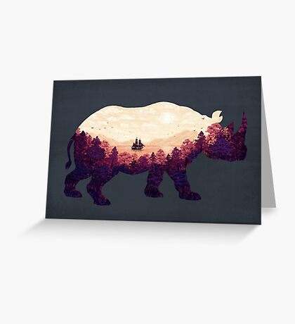 Rhinoscape Greeting Card