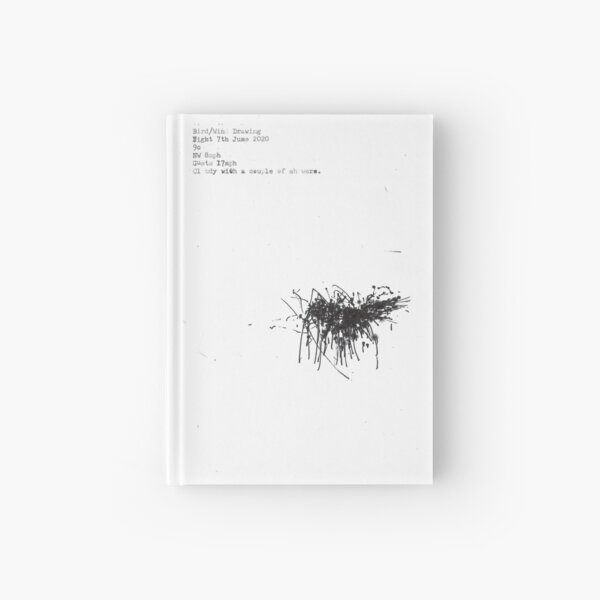 24 hours of bird and wind drawings. 7th June 2020 Hardcover Journal