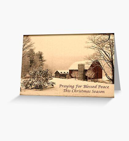 Vintage farm scene Greeting Card