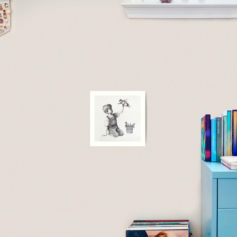 PERSONALISED A3 Banksy GAME CHANGER 4THE SAINTS NHS Superhero Metal Print FRAMED