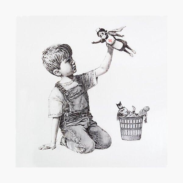 Banksy Artwork Game Changer 2020 | NHS Superheroes Photographic Print