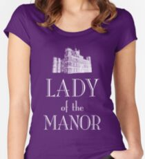 Lady of the Manor (white) Women's Fitted Scoop T-Shirt