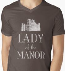 Lady of the Manor (white) Men's V-Neck T-Shirt
