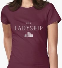 Her Ladyship (white) Women's Fitted T-Shirt