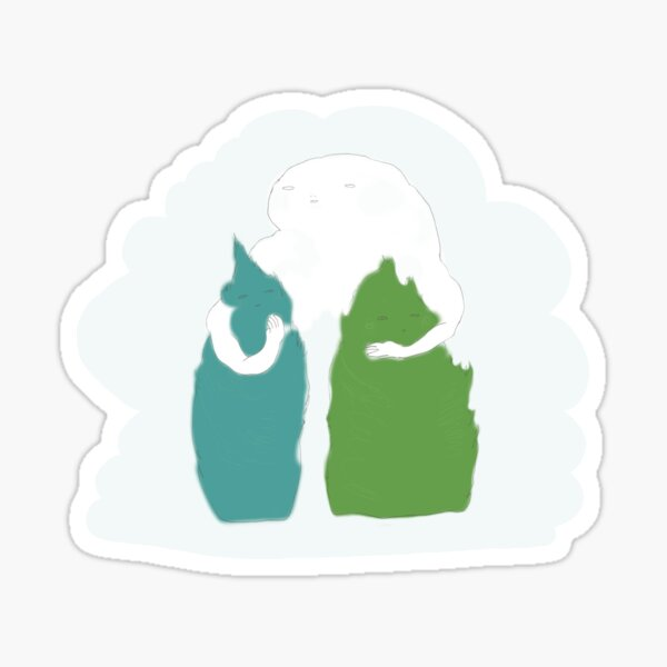 Cloud Mother and Two Trees Sticker