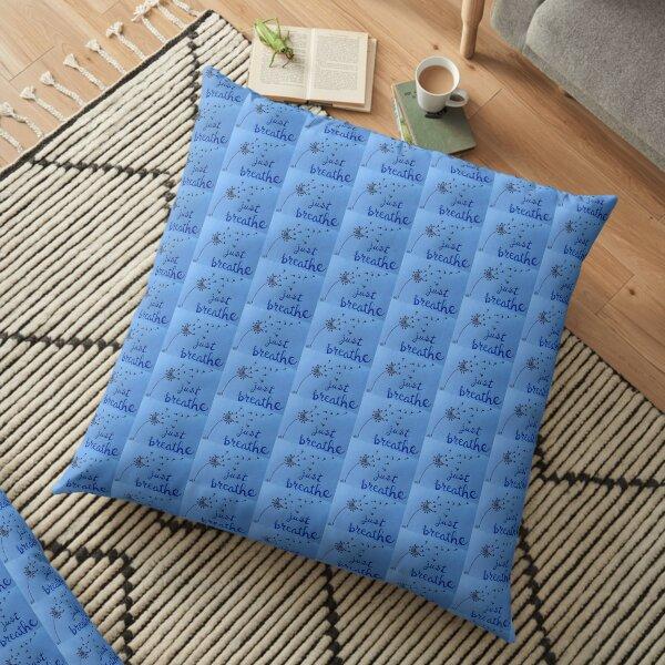 Dandelion Wishes - Just Breathe Floor Pillow