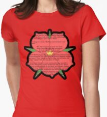 Scarlet Pimpernel - Sir Percy Blakeney's Poem Women's Fitted T-Shirt