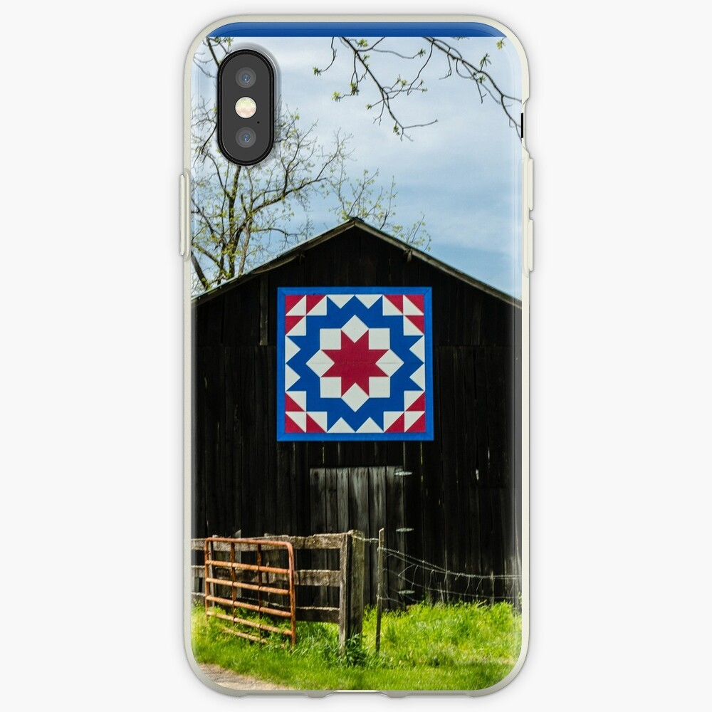 Kentucky Barn Quilt - Tischler Rad iPhone-Hülle & Cover