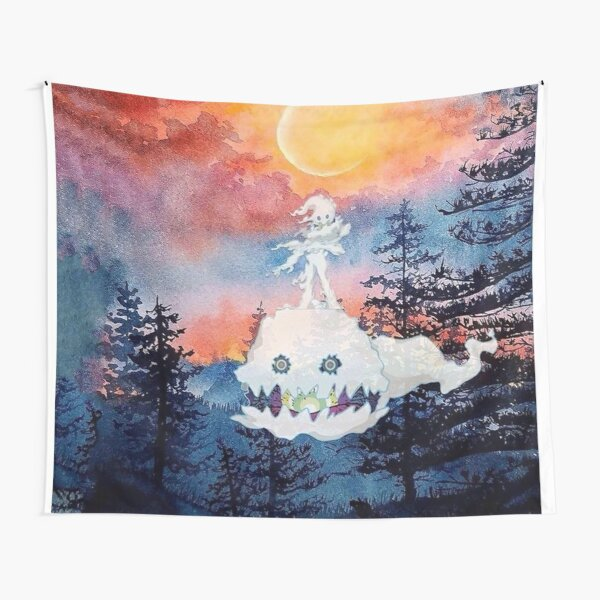 Kids See Ghosts Forest Tapestry