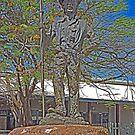 Statue, Jack Jugarie, Halls Creek, Kimberley, Western Australia by Margaret  Hyde
