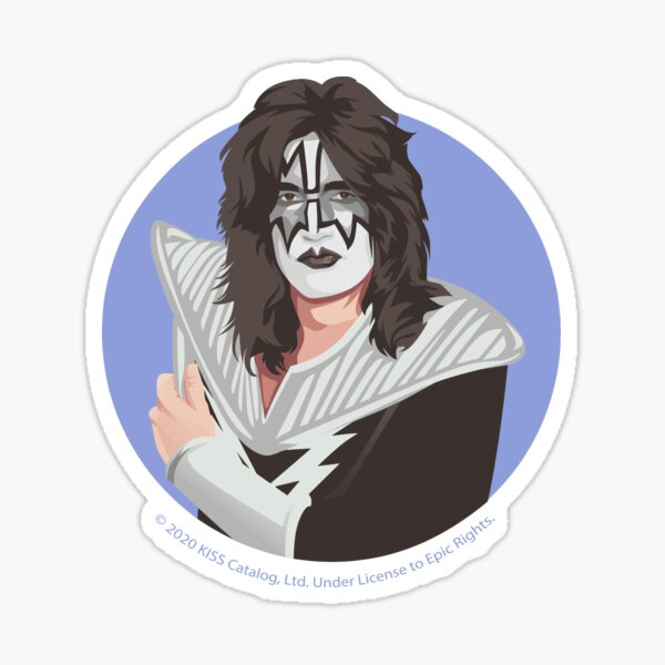 KISS - The Spaceman - Awesome Space Man Illustration Sticker