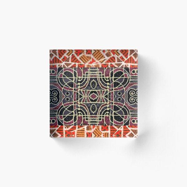 Tribal Design Two Acrylic Block