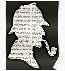 Classic Sherlock Holmes Silhouette - Scandal in Bohemia Poster
