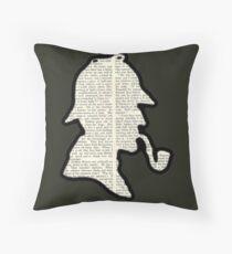 Classic Sherlock Holmes Silhouette - Scandal in Bohemia Throw Pillow