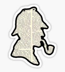 Classic Sherlock Holmes Silhouette - Scandal in Bohemia Sticker