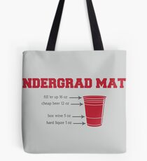 Undergrad Math Tote Bag
