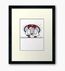 Jett and Melody were glad to have met. Framed Print