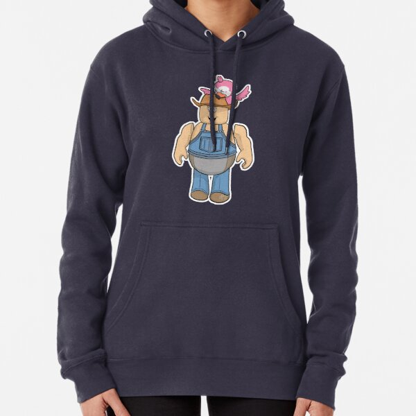 Cletus pecked by Flamingo Pullover Hoodie