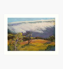 Snow Storm Victorian Alps  Art Print