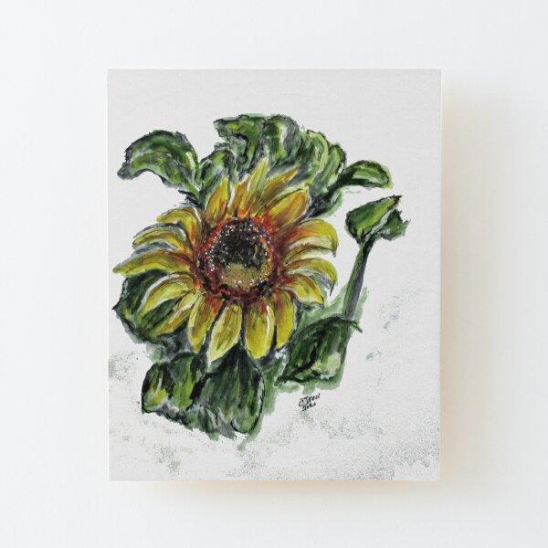 Summer Sunflower Wood Mounted Print