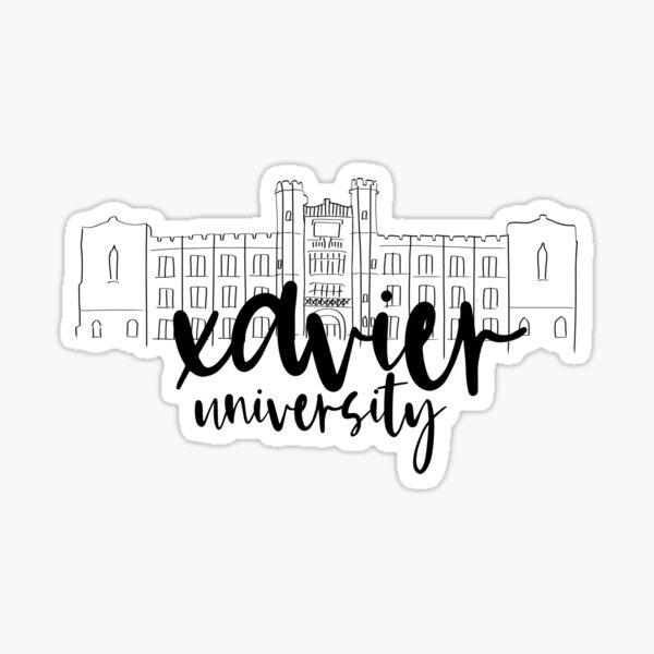 Xavier University Hinkle Hall Sticker