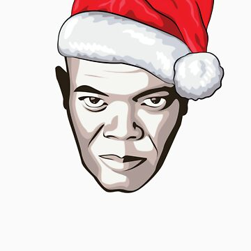 Samuel L. Jackson - Christmas T-Shirt by FacesOfAwesome
