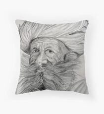 Man with Magnificent Mush!. Throw Pillow