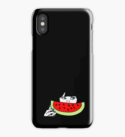 Zooey and the watermelon iPhone Case