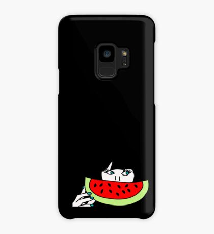 Zooey and the watermelon Case/Skin for Samsung Galaxy