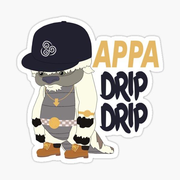 appa drip drip! Glossy Sticker