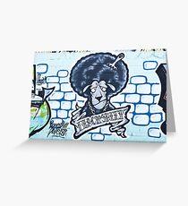Abstract Graffiti Sheep on the textured wall Greeting Card