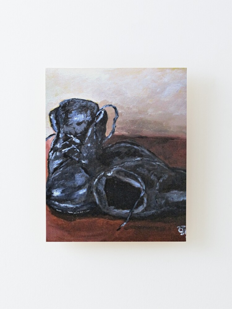 Alternate view of Work Shoes No2. Mounted Print
