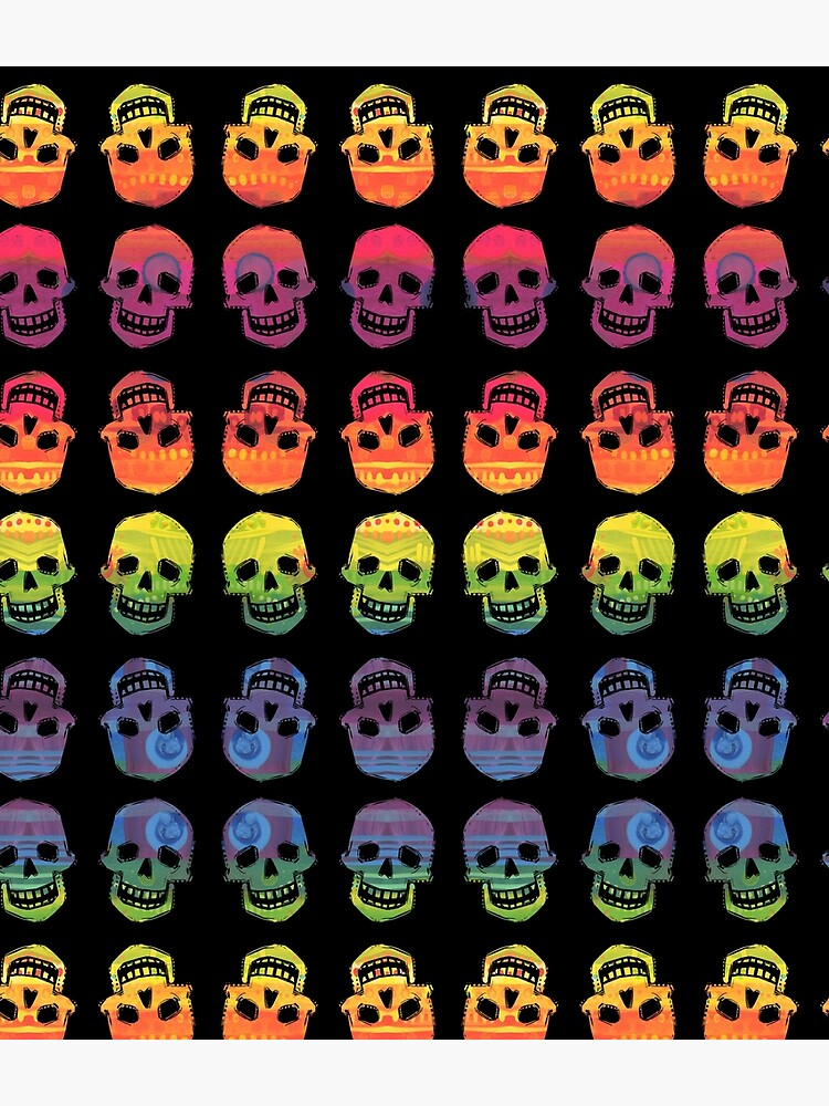 Rainbow Skulls Design- 2020 by gwennpaints