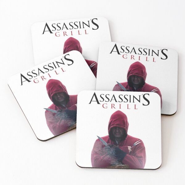 beware of the biggest barbecue assassin Coasters (Set of 4)