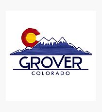 Grover Colorado wood mountains Photographic Print