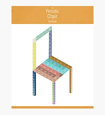 Periodic Chair of Elements Photographic Print