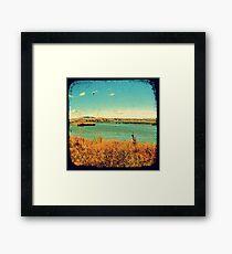 Dangars Lagoon Through The Viewfinder (TTV) Framed Print