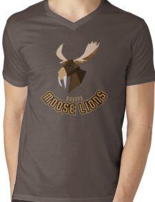 Makapu Moose Lions Mens V-Neck T-Shirt