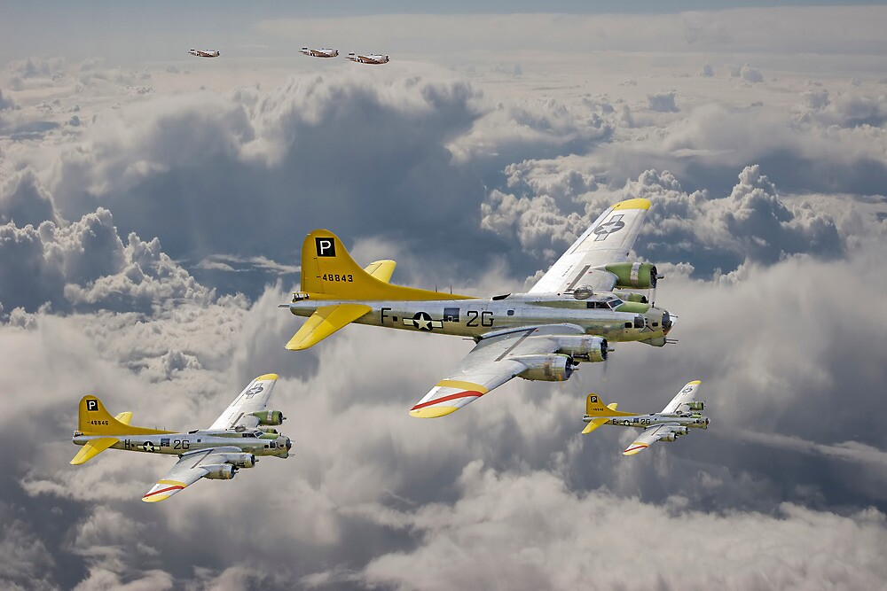 B17 - 487th Bomb Group by Pat Speirs